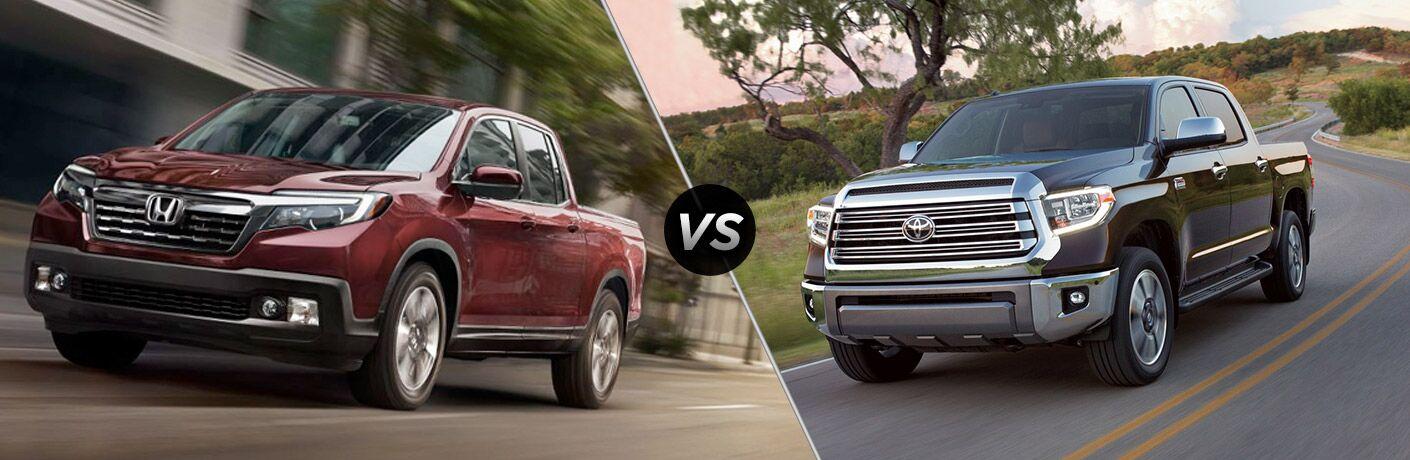 2019 Honda Ridgeline vs 2019 Toyota Tundra