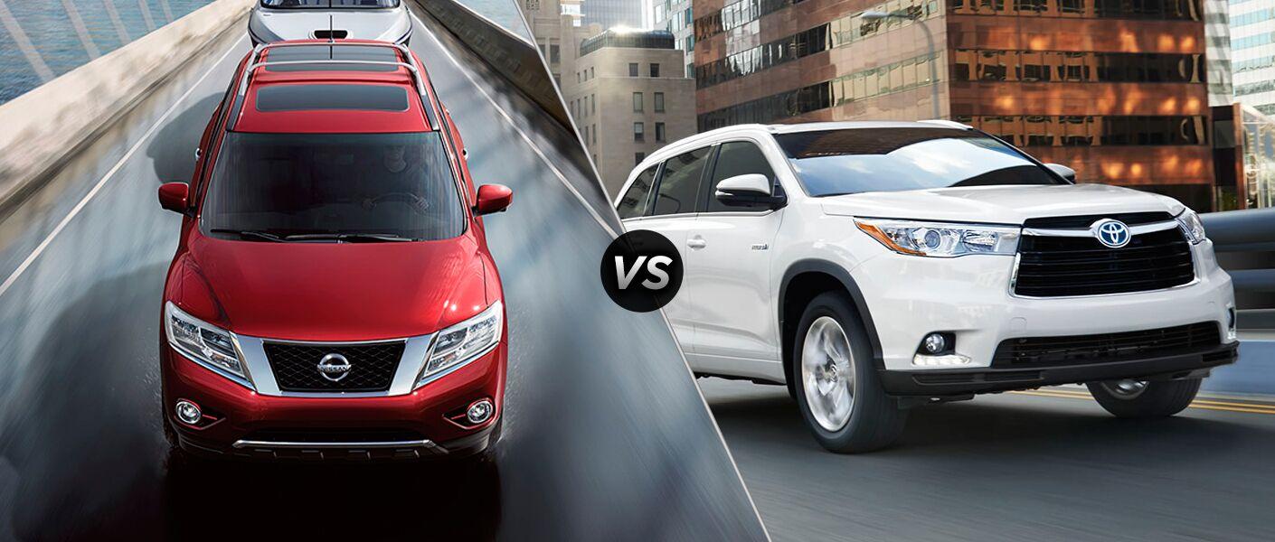 2015 Nissan Pathfinder vs 2015 Toyota Highlander Chicago Naperville IL
