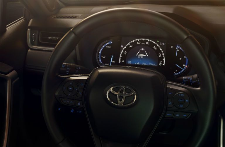 2019 Toyota RAV4 interior front steering wheel