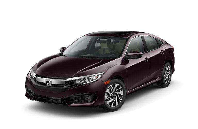 2016 honda civic ex vs ex-l features