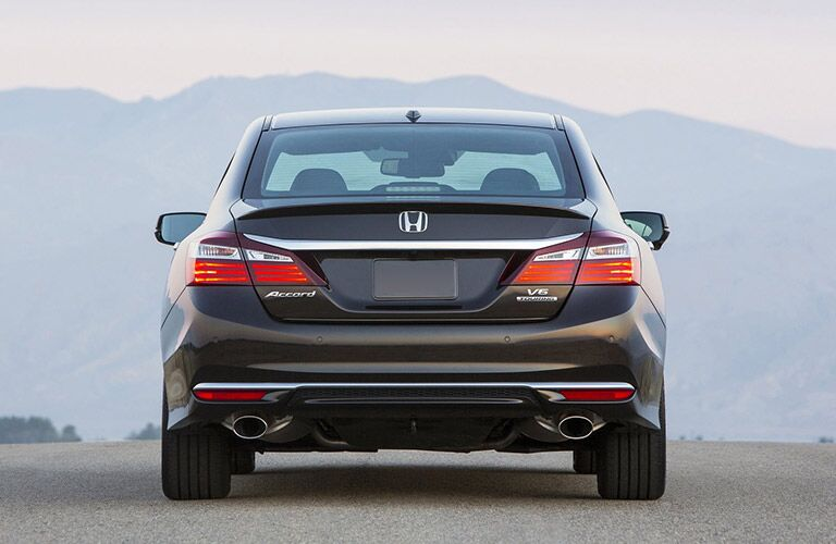 Rear view of the elegant 2016 Honda Accord