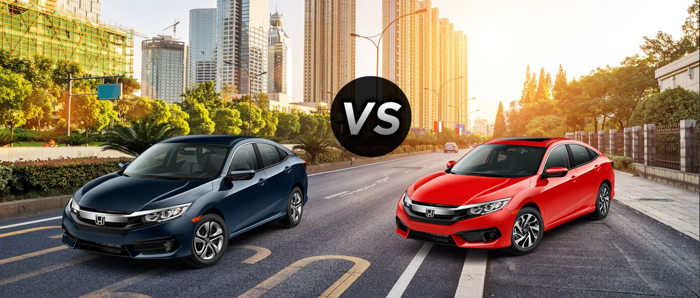 2016 honda civic lx vs 2016 honda civic ex