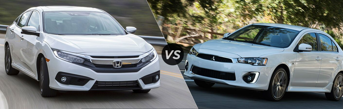 2017 Honda Civic Sedan vs 2017 Mitsubishi Lancer