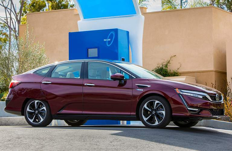2018 Honda Clarity Plug-In Hybrid parked at a charging station