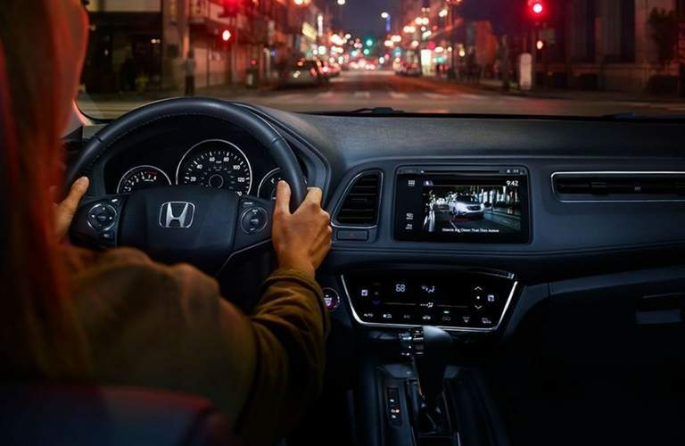 2018 Honda HR-V interior front driver's controls