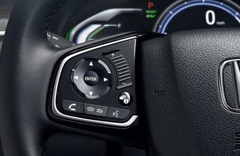 2019 Honda Clarity Plug-In Hybrid steering wheel-mounted controls