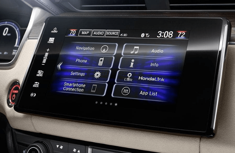 2019 Honda Clarity Plug-In Hybrid infotainment screen