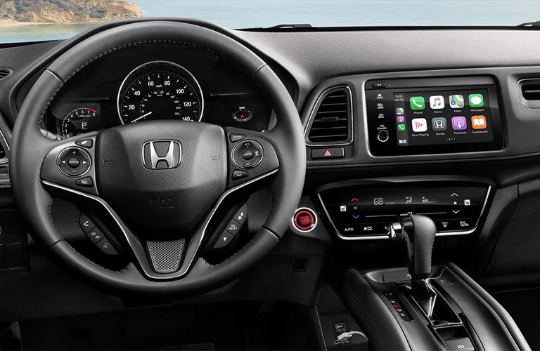 Interior front cabin of a 2020 Honda HR-V.