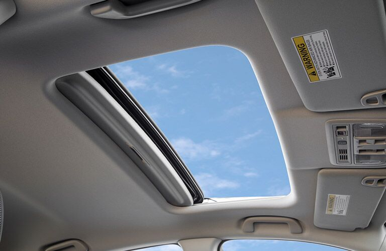 View through the sunroof of a 2020 Honda Insight.