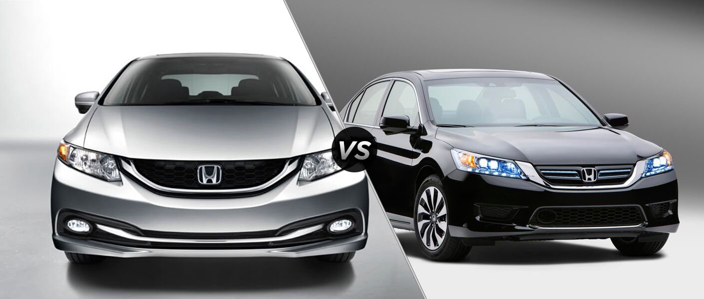 2014 honda civic vs 2014 honda accord. Black Bedroom Furniture Sets. Home Design Ideas