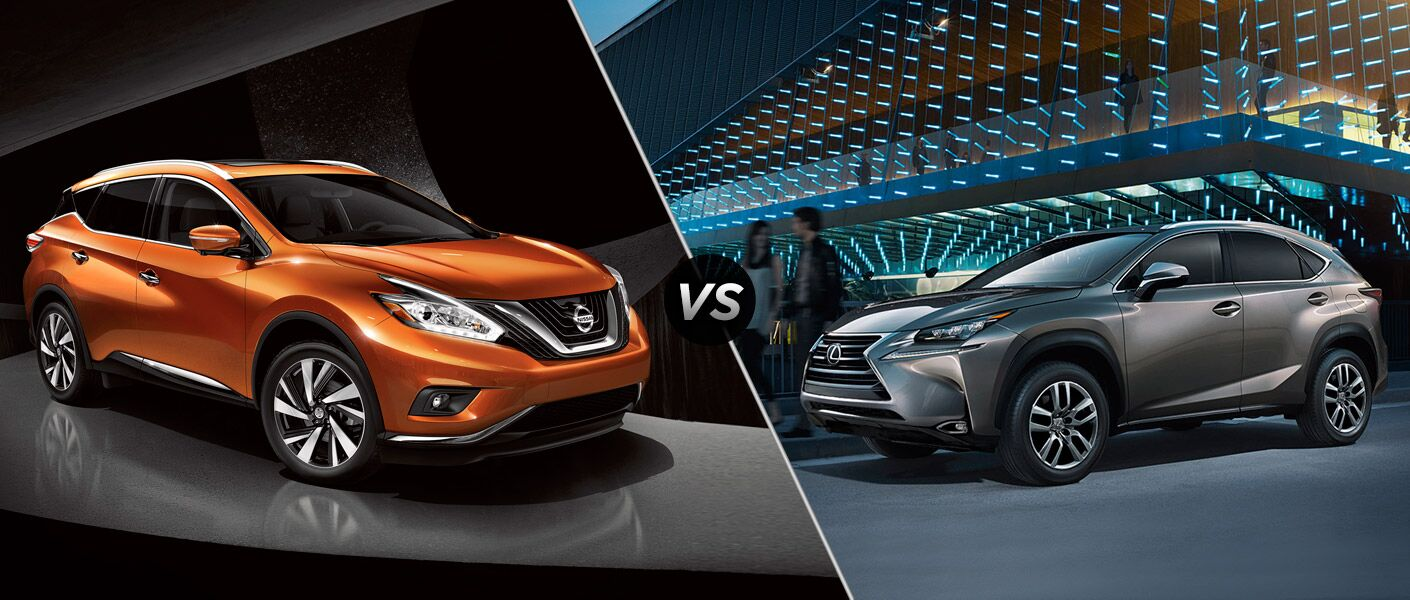 The comparison between the 2015 Nissan Murano vs 2015 Lexus NX is won by the Murano.
