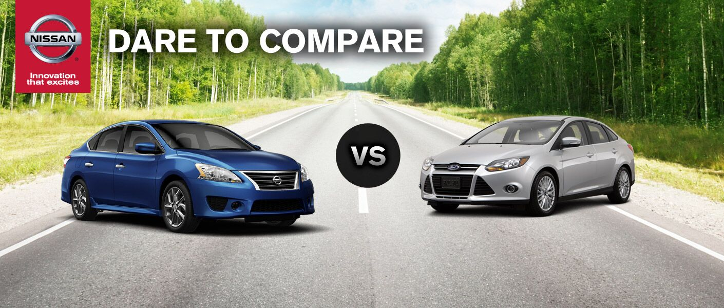 How does the 2014 Nissan Sentra compare to the 2014 Ford Focus?
