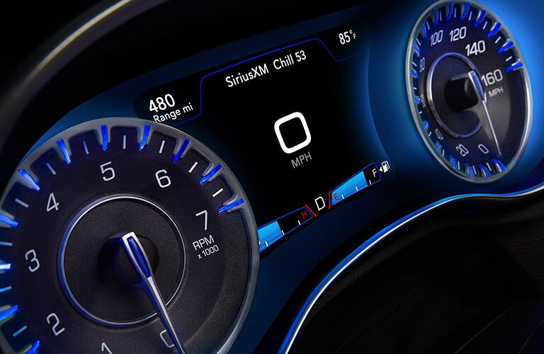 2017 Chrysler 300 Blue Dashboard Lighting