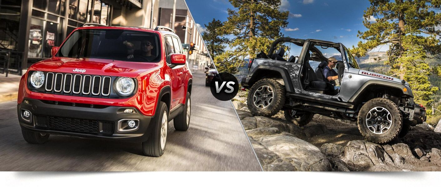 jeep renegade vs jeep wrangler. Black Bedroom Furniture Sets. Home Design Ideas