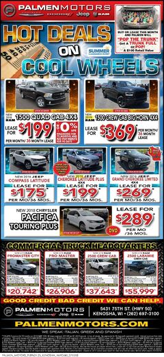 Hot Deals on Cool Wheels 7/14-7/21
