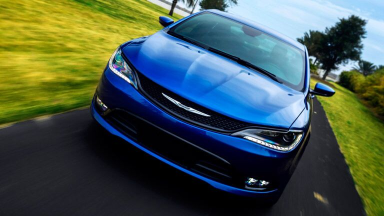 Blue Chrysler 200 Front