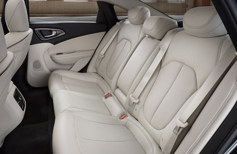 2016 Chrysler 200 Rear Seating Space
