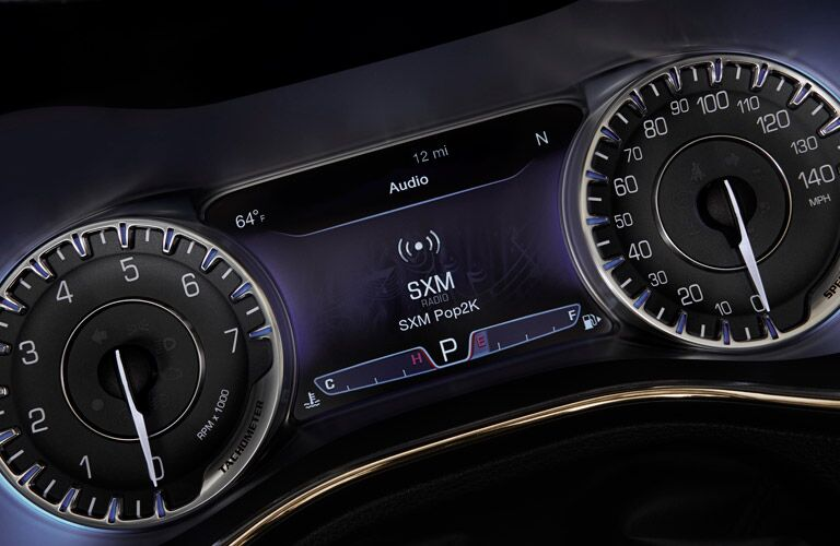 2016 Chrysler 200 Purple Dashboard