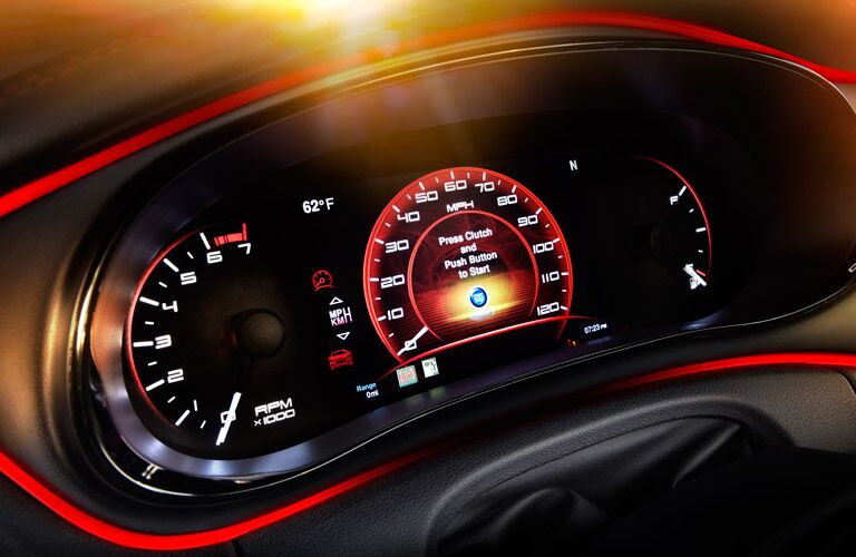 2016 Dodge Dart Red Dashboard Trim