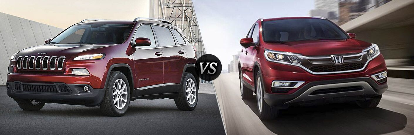 2016 jeep cherokee vs 2016 honda cr v