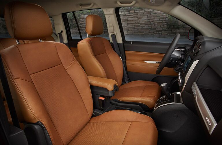 2016 Jeep Compass Brown leather Seating Trim