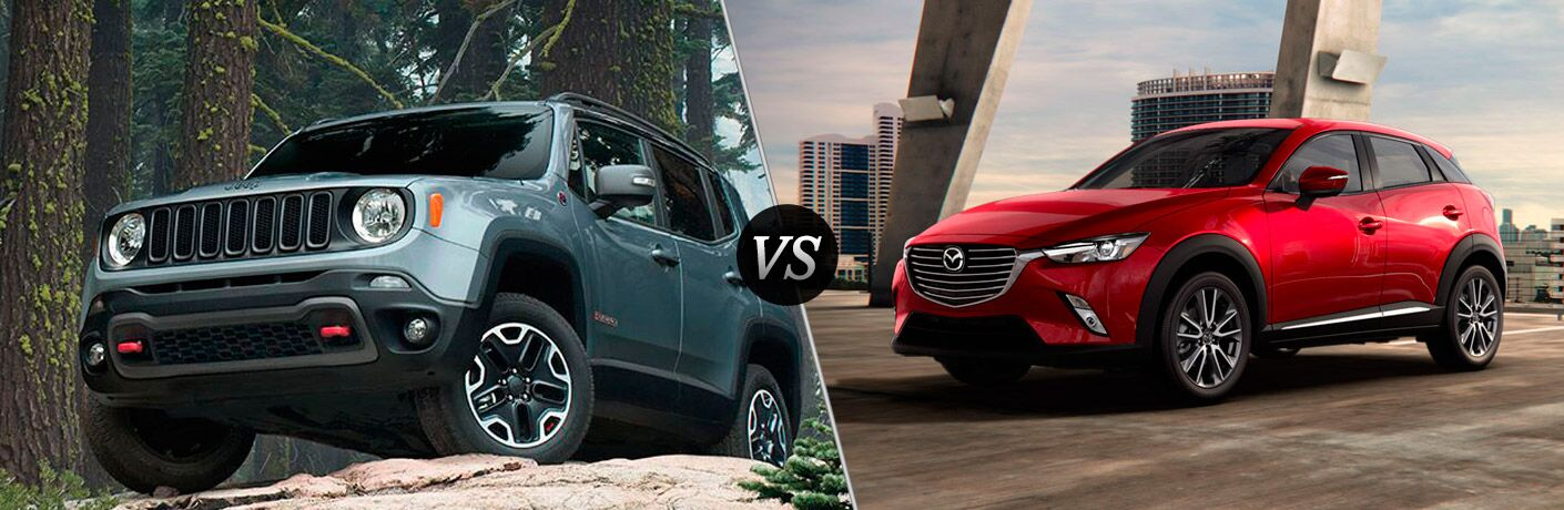 2016 Jeep Renegade vs 2016 Mazda CX-3