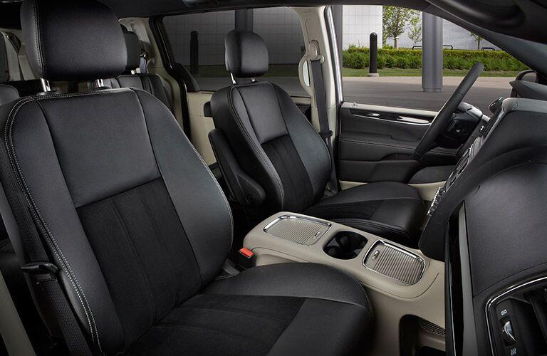 2017 Dodge Grand Caravan Black Leather Seating Trim