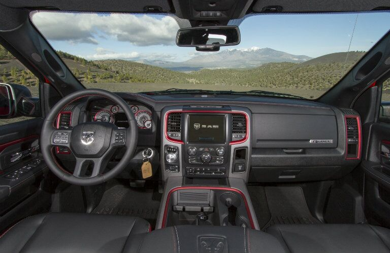 2017 Ram 1500 Interior Red Trim
