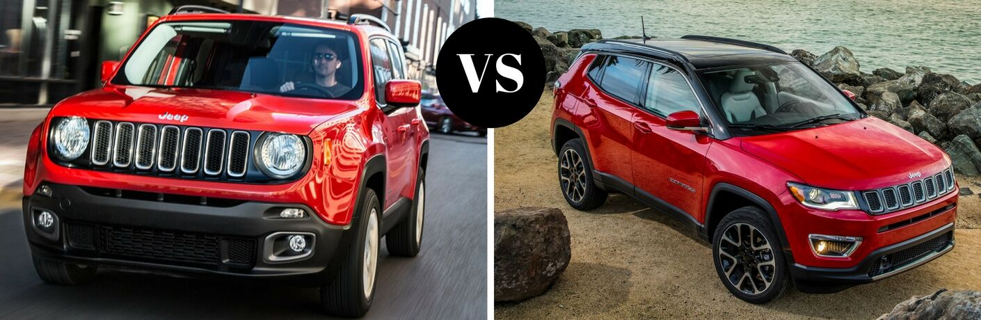 2017 Jeep Renegade vs 2017 Jeep Compass