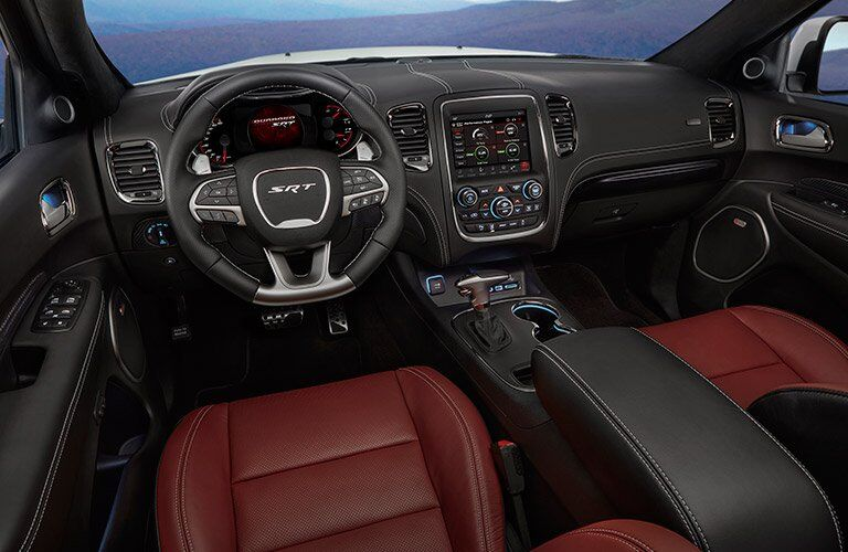 dashboard and cockpit of 2018 Dodge Durango