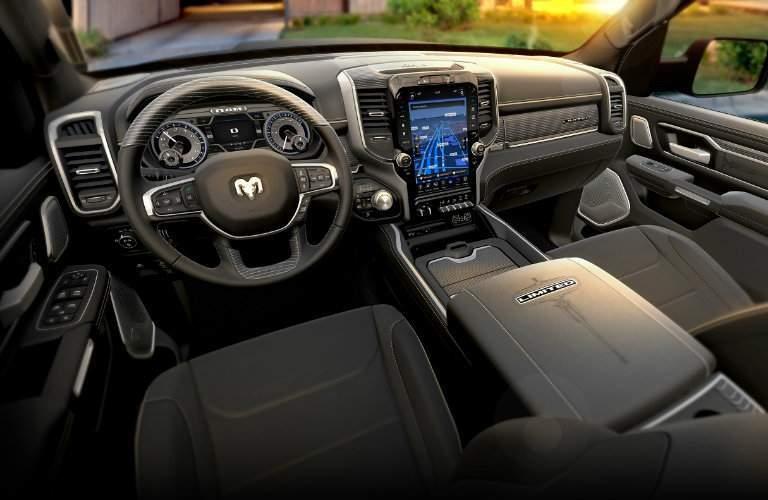 steering wheel and dashboard design of 2019 Ram 1500