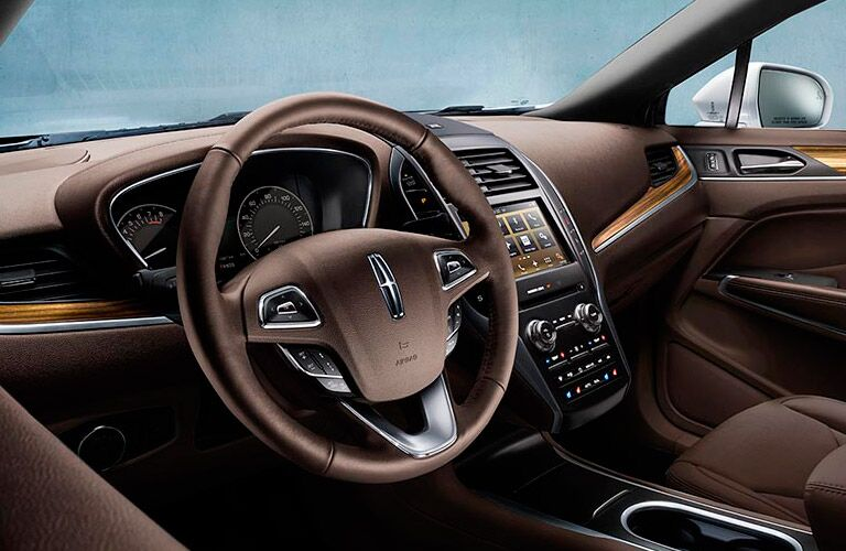 2016 lincoln mkc leather steering wheel