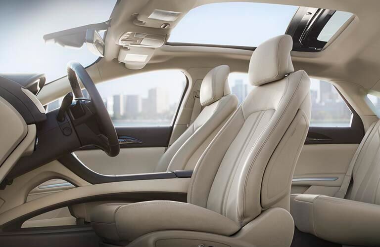 2016 Lincoln MKZ interior with sunroof