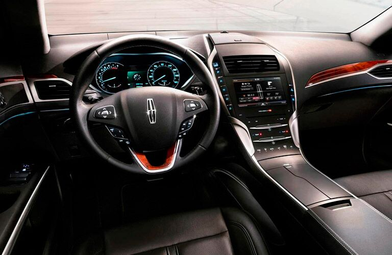2016 Lincoln MKZ interior with wood accents