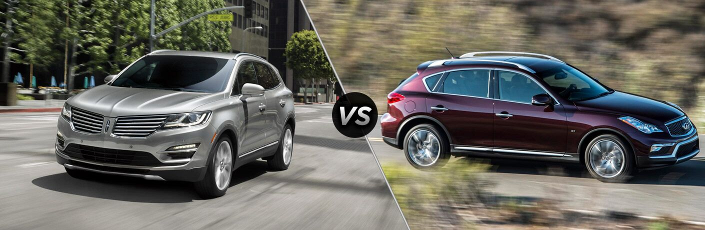 2017 Lincoln MKC vs 2016 Infiniti QX50