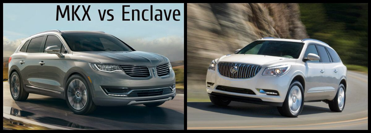 2016 Lincoln MKX vs 2016 Buick Enclave