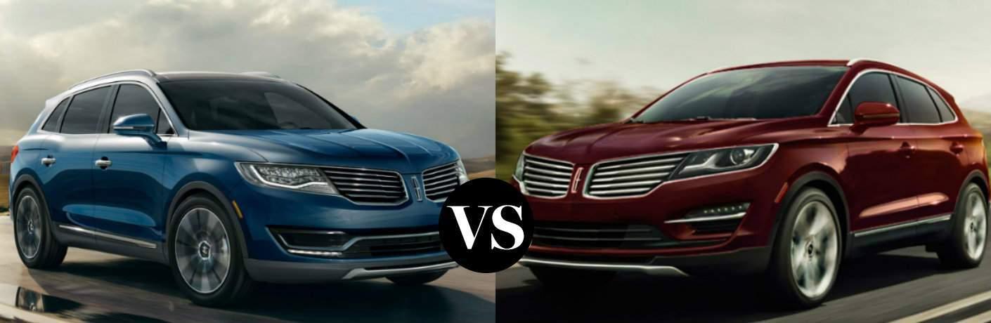 2016 Lincoln MKX vs 2016 Lincoln MKC