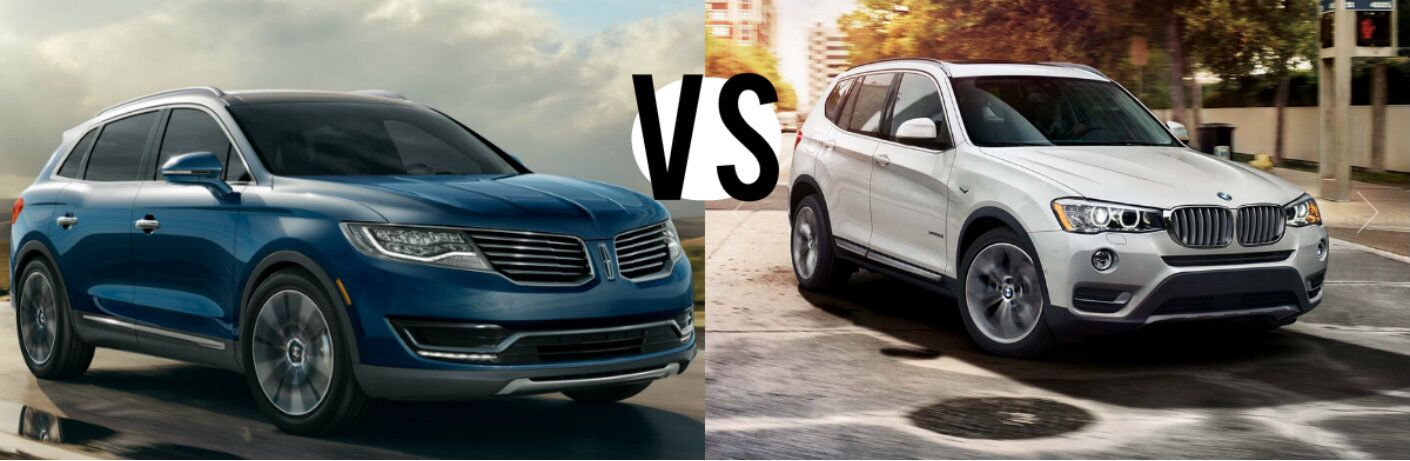 2016 Lincoln MKX vs 2016 BMW X3