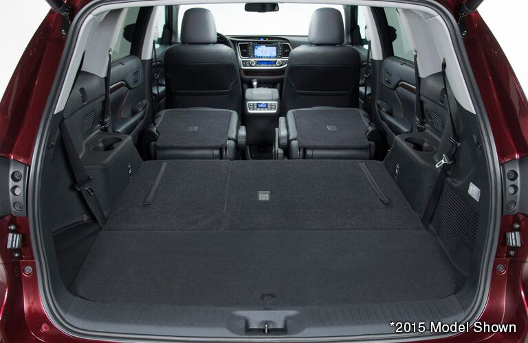 2016 toyota highlander cargo space fold flat load floor