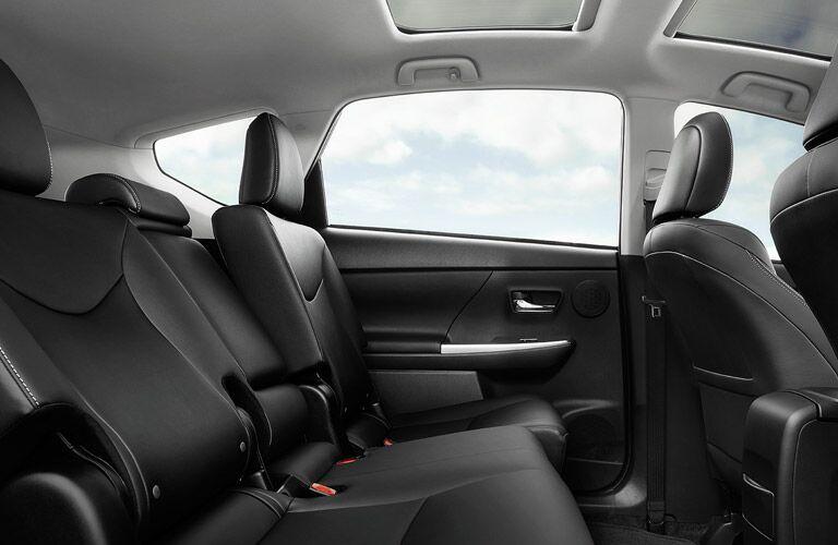 2016 prius v interior reclining rear seats