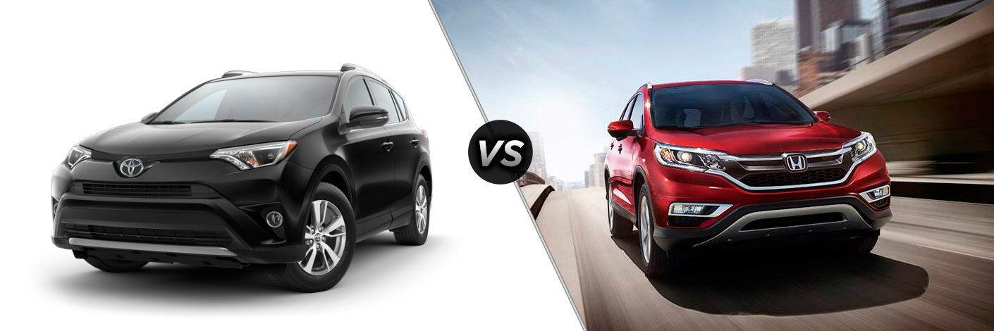 2016 toyota rav4 vs 2016 honda cr-v exterior cargo space hybrid max towing airbags