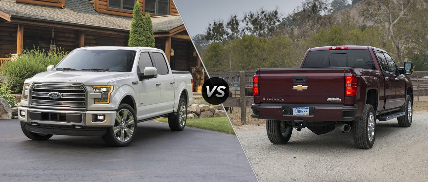 2016 ford f-150 vs 2016 chevy silverado 1500