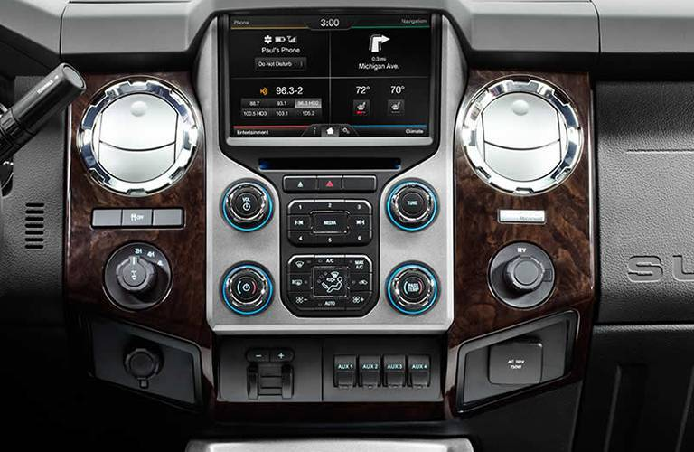 2016 f-350 interior dashboard touchscreen