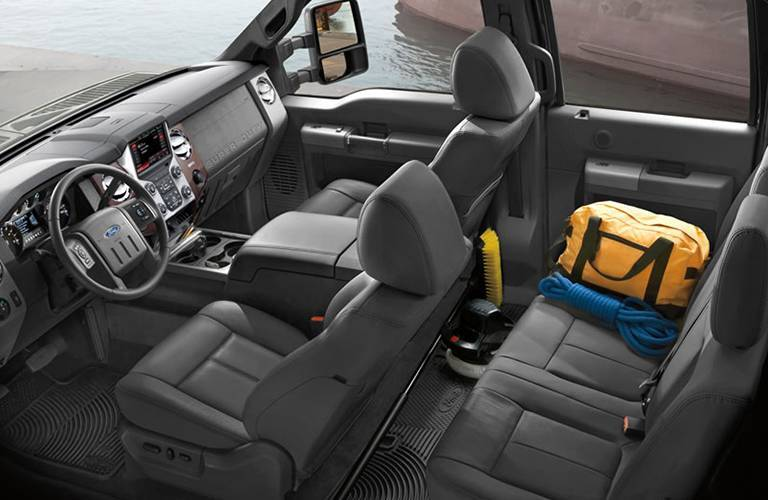 2016 f-350 work storage seats
