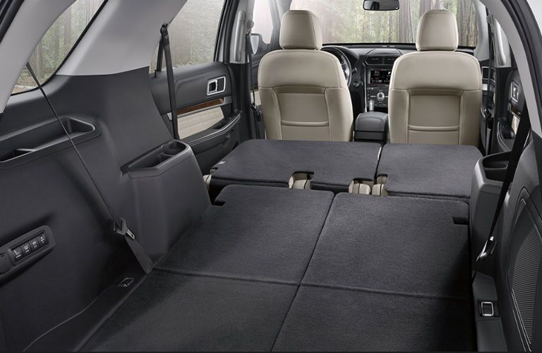 2017 ford explorer cargo space seats folded down