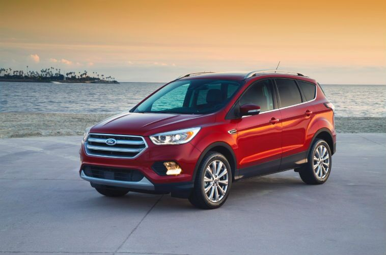 2017 ford escape red exterior grille headlights