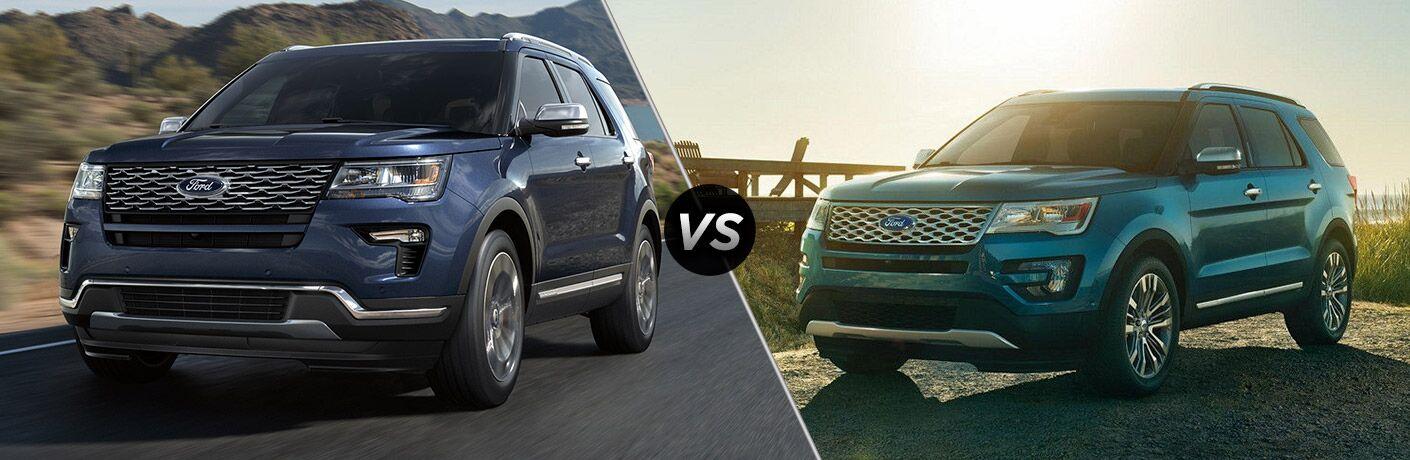2018 Ford Explorer vs 2017 Ford Explorer