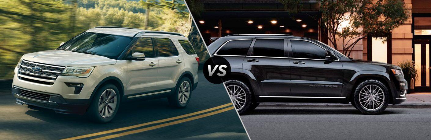 2018 Ford Explorer vs 2018 Jeep Grand Cherokee