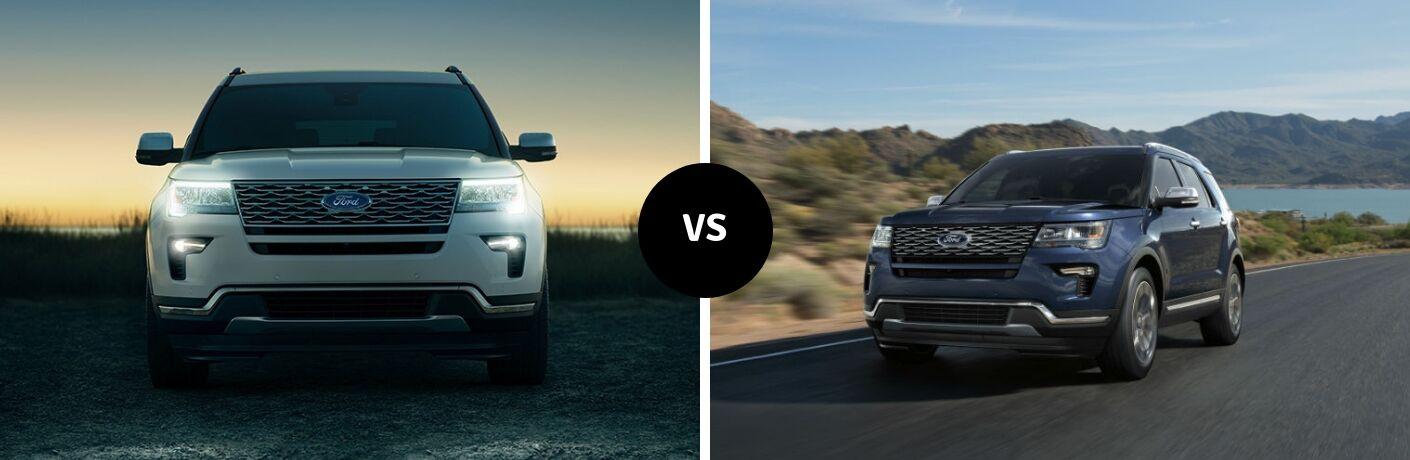 2019 Ford Explorer vs 2018 Ford Explorer
