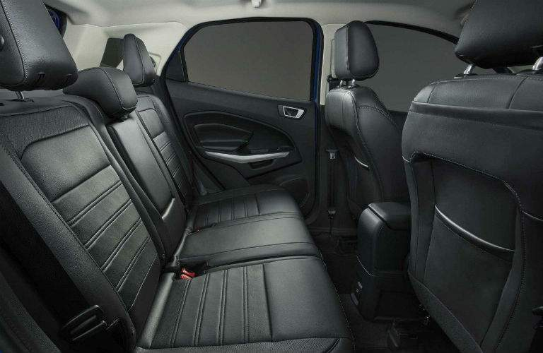 A photo of the backseat in the 2018 Ford EcoBoost showing how much legroom is available